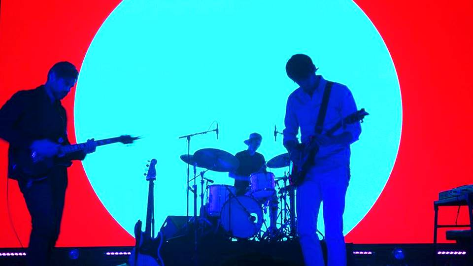 Tycho Divison Tour, 3 of the members on instruments playing a track from their newest release, Epoch