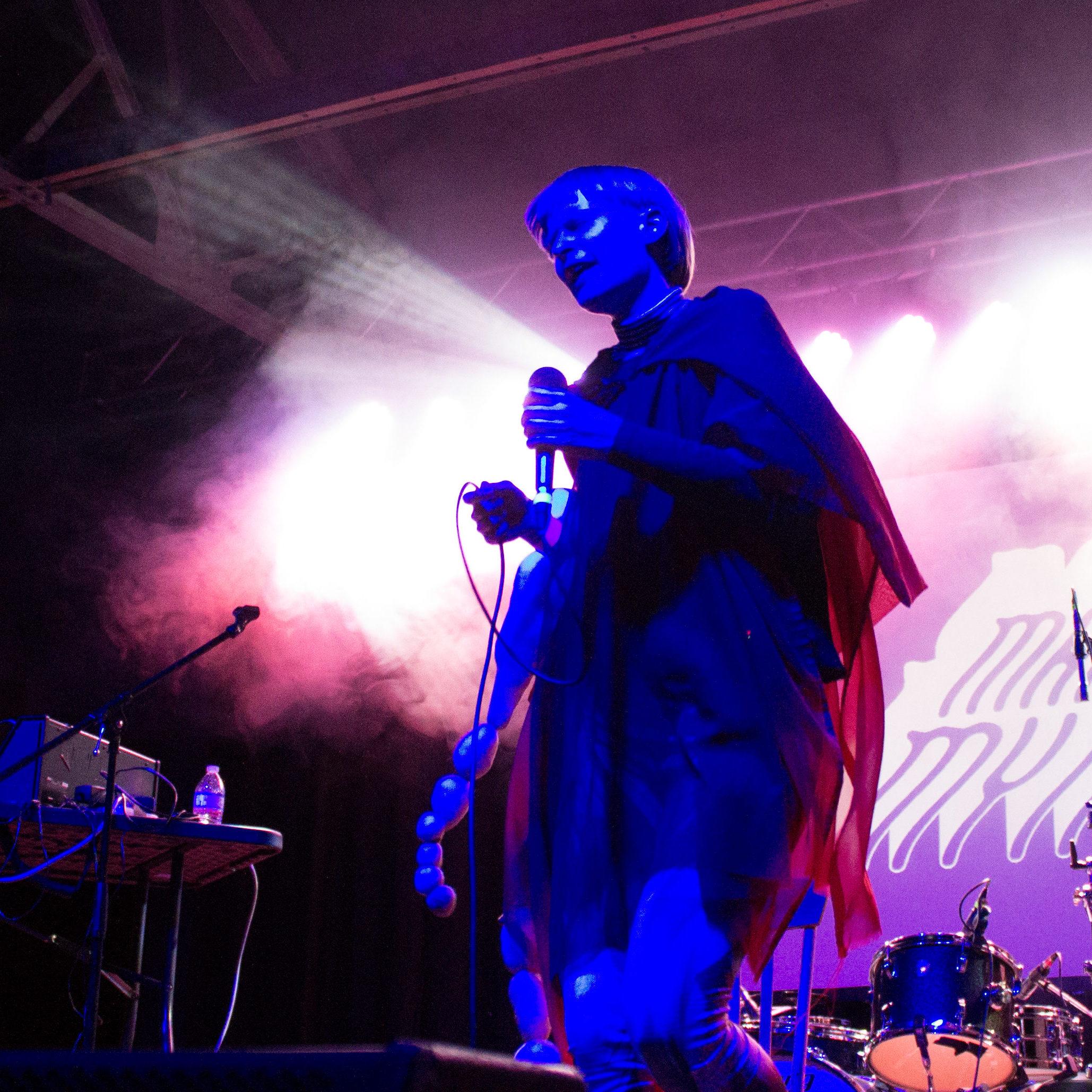 Jenny Hval @ Marfa Myths 3/11/17 - photo by Rebecca Dharamraj
